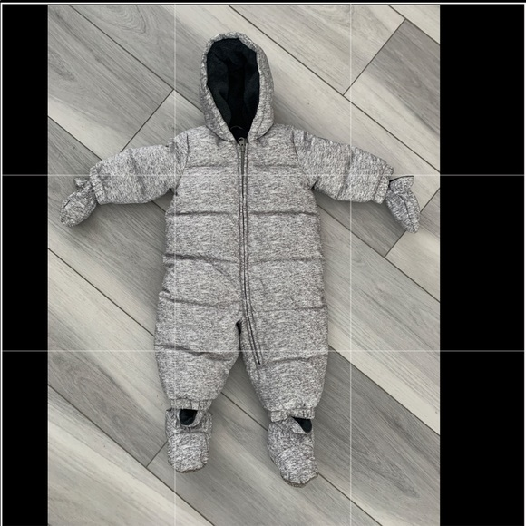 NWT BABY GAP Girls Sherpa Bunny Snowsuit One-Piece Cotton Lined 0-3 3-6 6-12 Mos